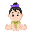 cartoon cute baby vector image vector image