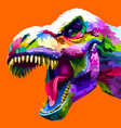 colorful head tyrannosaurus rex t rex vector image