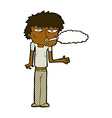 comic cartoon smoker vector image