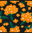 cute floral seamless pattern yellow and blue vector image vector image