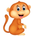 Cute monkey cartoon sitting vector image