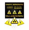 danger grunge background vector image vector image