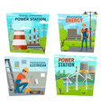 electrician profession power generation industry vector image