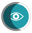 eye view isolated icon vector image vector image