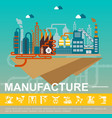 flat industrial factory template vector image vector image