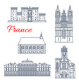 france architecture landmarks of angers vector image