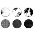 grunge stamp set vector image vector image