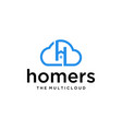 h home in cloud vector image vector image