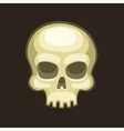 Halloween Skull in Cartoon Style on Dark vector image vector image