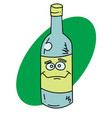 happy bottle vector image