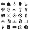 hockey icons set simple style vector image vector image