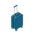 isometric luggage bag 3d suitcase vector image