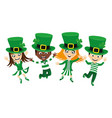 kids in costumes for st patricks day vector image vector image