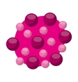 laboratory particle isolated icon vector image vector image