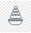 laddu concept linear icon isolated on transparent vector image