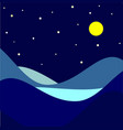 landscape moonlit night vector image vector image