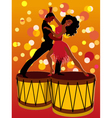 Latin couple dancing on bongos vector image vector image