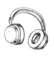 listening audio device wireless headphones vector image vector image