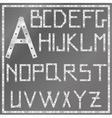 metal latin alphabet vector image vector image