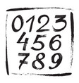numbers sketch brush handwritten style design fig vector image