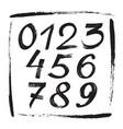 numbers sketch brush handwritten style design fig vector image vector image