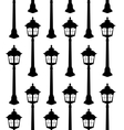 Old lantern silhouette seamless pattern vector image vector image