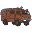 Old terrain fire truck vector image