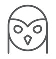owl line icon animal and wild halloween sign vector image vector image