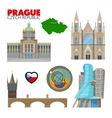 Prague Czech Republic Travel Doodle vector image