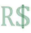 real brazil currency symbol vector image