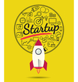 Rocket for business start up concept vector image vector image