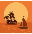 sailing boat tropical sea vector image vector image