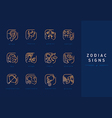 Set icons astrological signs of the zodiac vector image
