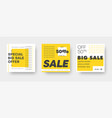 set white and yellow web banners for big and vector image vector image