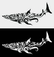 Shark ornament vector image vector image