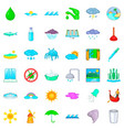 shower icons set cartoon style vector image vector image