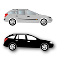 Silhouettes of Car black vector image vector image