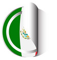sticker design for flag of mexico vector image vector image