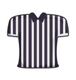 striped t-shirt vector image vector image