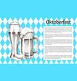 traditional germany oktoberfest festival banner vector image