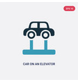 two color car on an elevator icon from vector image vector image