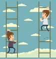 up the career ladder vector image vector image