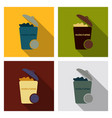 waste icon - trash bin garbage can vector image
