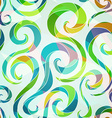 colored spiral seamless pattern vector image