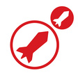 Rocket simple single color icon isolated on white vector image