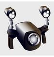Underwater lights and camera closeup sport item vector image