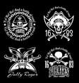 pirates emblem set with pirate spirit flying dutch vector image