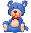a blue teddy bear vector image