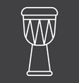 african djembe drum line icon music vector image