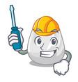 automotive plastic bag mascot cartoon vector image vector image